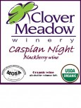 clover meadow, organic blackberry wine, Wisconsin