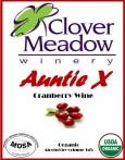 Auntie X, organic wine, cranberry wine, Wisconsin