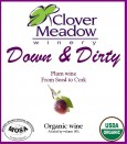 Clover Meadow organic plum wine